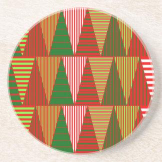 Tri árboles de navidad posavasos diseño