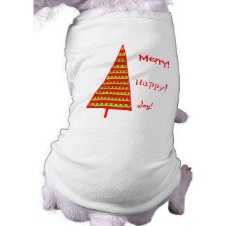 Tri árboles de Navidad Playera Sin Mangas Para Perro