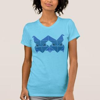 Tri azul de Figura Camisas