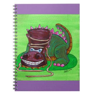 Tri-Boot-A-Tops Spiral Notebook
