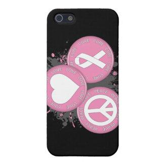 Tri Botones de la curación del amor de la paz - cá iPhone 5 Protector