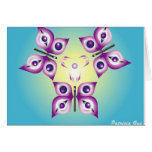 tri-butterfly greeting card
