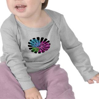 Tri camisa del niño de la rueda de la flor del col
