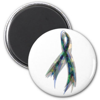 Tri-Camouflage Ribbon 2 Inch Round Magnet