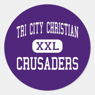 Tri City Christian - Crusaders - Kansas City Classic Round Sticker