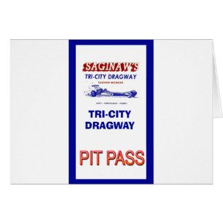 Tri - City Dragway Pit Pass Card