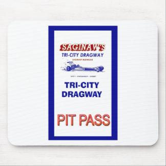 Tri - City Dragway Pit Pass Mouse Pad