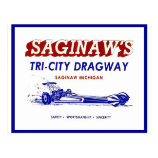 Tri - City  Dragway Postcard