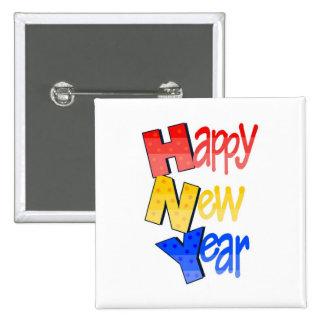 Tri color 1 de la Feliz Año Nuevo Pin