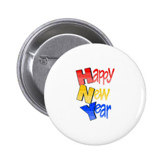 Tri color 1 de la Feliz Año Nuevo Pins