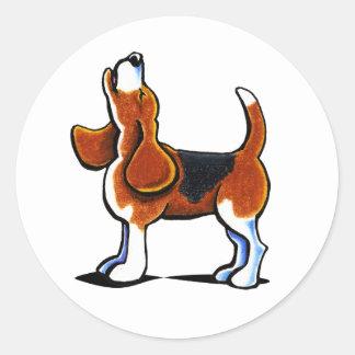 Tri-color Beagle Bay Classic Round Sticker
