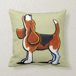 Tri-color Beagle Bay Throw Pillow