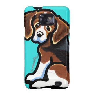 Tri-color Beagle Profile Off-Leash Art™ Samsung Galaxy S2 Covers