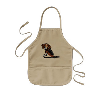Tri-color Beagle Profile Off-Leash Art™ Kids' Apron