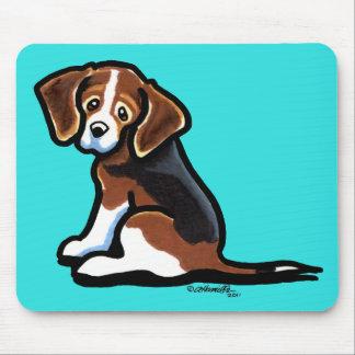 Tri-color Beagle Profile Off-Leash Art™ Mouse Pad