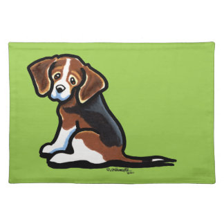 Tri-color Beagle Profile Off-Leash Art™ Placemat
