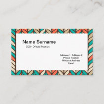 Tri-color braids pattern two-sided business card
