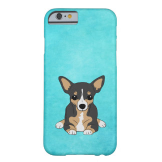 Tri-Color Chihuahua Aqua Teal Barely There iPhone 6 Case