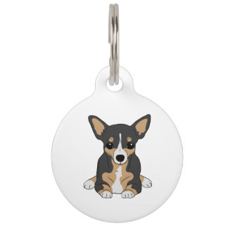 Tri-Color Chihuahua Pet Name Tag