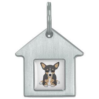 Tri-Color Chihuahua Pet Tag