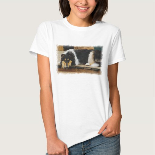 Tri color Collie Gifts of Art Shirt