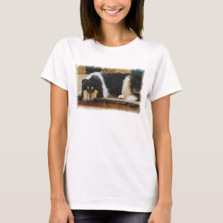 Tri color Collie Gifts of Art T-Shirt
