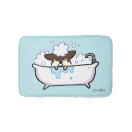 Tri-Color Corgi Bath Mat