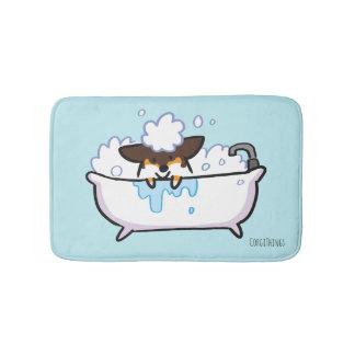 Tri-Color Corgi Bath Mat
