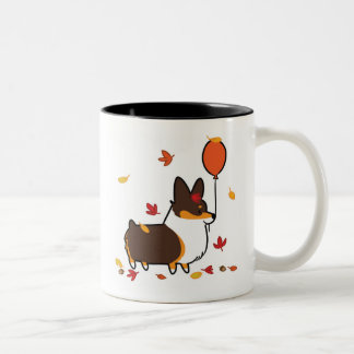 Tri-Color Corgi Fall Into Autumn Mug | CorgiThings