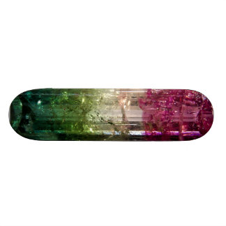 Tri-Color Crystal Abstract Art Skateboard