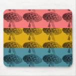 Tri-color Flower Mouse Pad