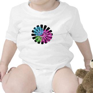 Tri Color Flower Wheel Infant Creeper