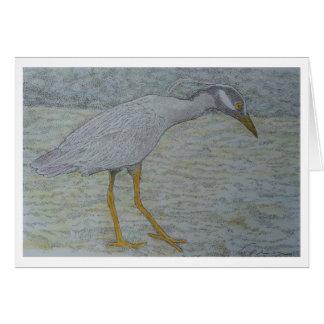 tri color heron #2 card