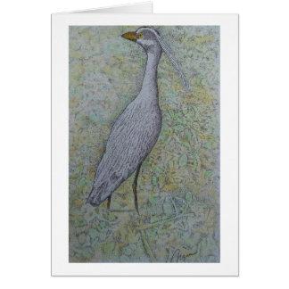 tri - color heron card