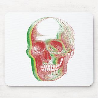 Tri-color Rasta Skull Mouse Pad