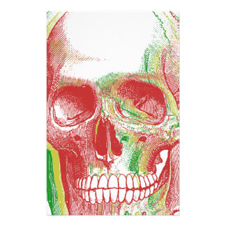 Tri-color Rasta Skull Stationery