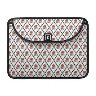 Tri Color Roses Wallpaper Pattern MacBook Pro Sleeves