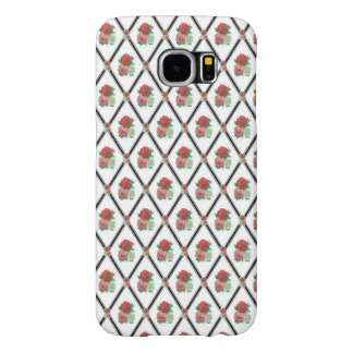 Tri Color Roses Wallpaper Pattern Samsung Galaxy S6 Case