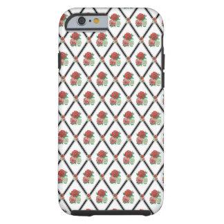 Tri Color Roses Wallpaper Pattern Tough iPhone 6 Case