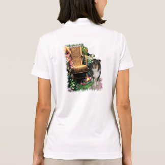 Tri Color Rough Collie Art Gifts Polo Shirt