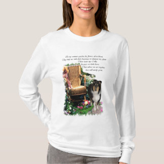 Tri-Color Rough Collie Art Gifts T-Shirt