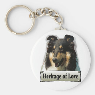 Tri Color Rough Collie Gifts Keychain