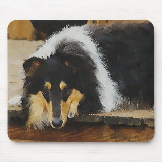Tri-Color Rough Collie Gifts Mouse Pad