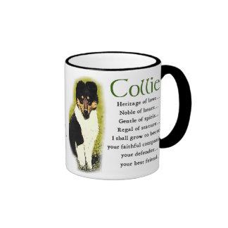 Tri Color Rough Collie Gifts Ringer Mug