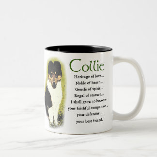 Tri Color Rough Collie Gifts Two-Tone Coffee Mug
