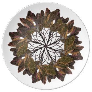 Tri-Color Sage Mandala Plate