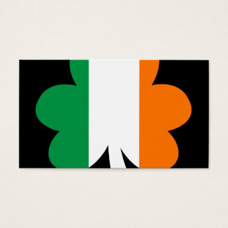 Tri-color Shamrock Business Card