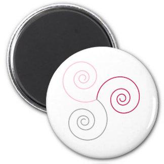 Tri-Color Spiral of Life copy Fridge Magnets