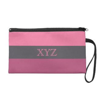 Tri-color stripes custom accessory bags