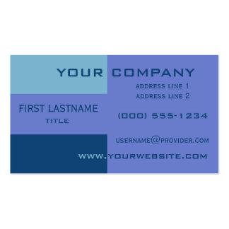 Tri-color stripes custom business cards